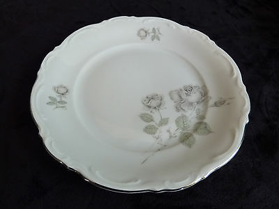 "Mystic Rose Platinum Trim Mitterteich Bavaria Germany 7.75"" Salad Plate"