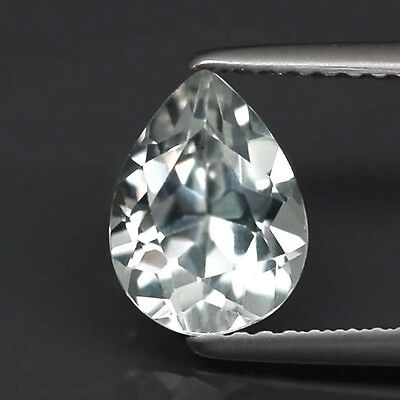 ONLY! $2.99/1pc 8.5x6mm Pear Natural UNHEATED White TOPAZ #357509