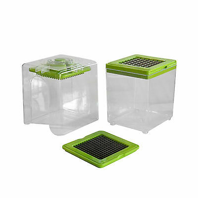 No Mess Fruit & Vegetable Chopper and Slicer - Includes 2 Different Size Blades