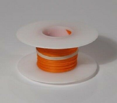 28 AWG Kynar Wire Wrap UL1422 Solid Wiremod type 100 foot spools ORANGE NEW!