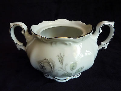 Mystic Rose Mitterteich Bavaria Germany Footed Sugar Bowl (no lid)