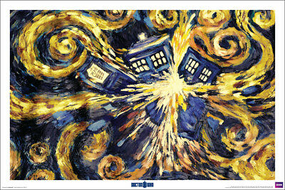 """DOCTOR WHO POSTER """"Exploding Tardis, TV Series"""" Time Machine NEW Licensed Art"""