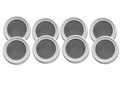 8 pack of Stainless Strainer / Sprouting lids for mason / canning jars