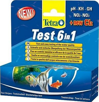 Tetra - 175488 - Test 6 in 1 - Tetra Aquarium 6 in 1 Test Strips are an NEUF
