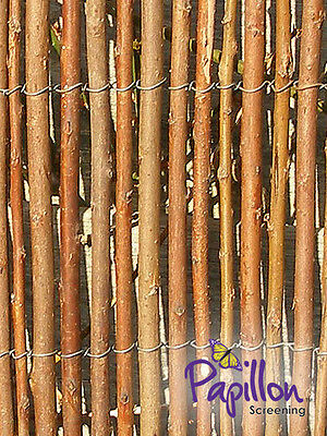 WILLOW SCREENING ROLL Screen Fencing Garden Fence Panel 1.8m 6ft Natural Wall