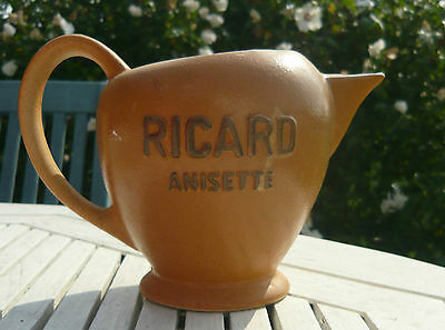 Vintage Ricard Anisette pub water jug made in France.