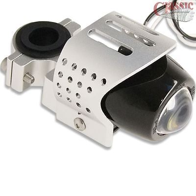 motorcycle fog light chrome aluminum emark for Harley Triumph Ducati BMW