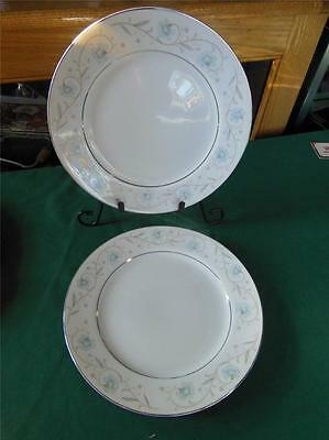 "SET 2 ENGLISH GARDEN 1221 SILVER TRIM 9"" ENTREE DINNER PLATES FINE CHINA JAPAN"