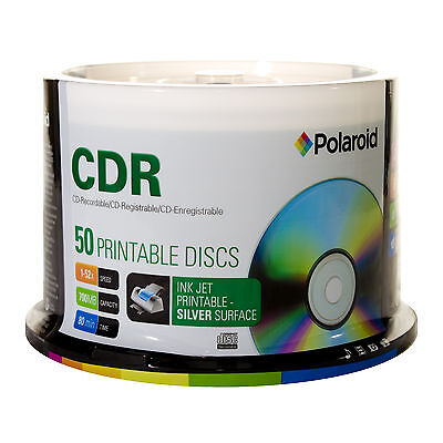 Blank CDR-80 700mb (52X) Polaroid CDs in 50pk. Spindles in a 200 Lot(C1-1212P3)