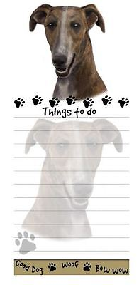 GREYHOUND DOG DIECUT LIST PAD NOTES NOTEPAD Magnetic Magnet Refrigerator