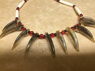 Native american made Badger claw necklace real claw Mountain Man rendezvous