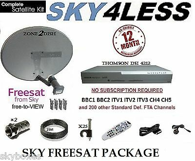 Sky Box Satellite Digi Box, Including Zone 2 Dish & 25M Full Kit