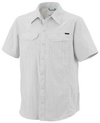 Columbia Silver Ridge Chemise manches courtes Homme Blanc FR : XL (Taille NEUF