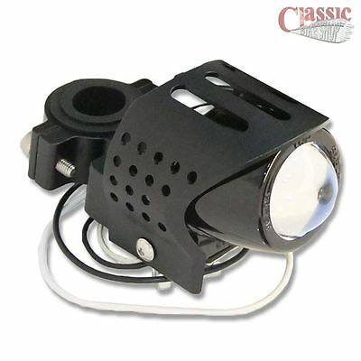 Universal Black Motorcycle Fog Auxiliary Light Round