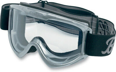 BILTWELL Moto Goggles (Grey) for Open-Face Motorcycle Helmets Gray MG-GRY-00-BK