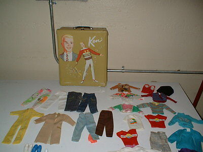 1960'S 70'S BARBIE KEN CASE AND CLOTHING BARBIE KEN NICE LOT