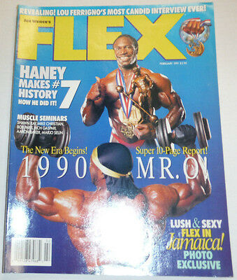 Flex Magazine Lee Haney & Shawn Ray February 1991 112114R