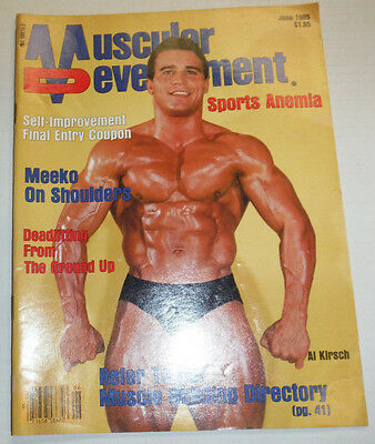 Muscular Development Magazine Meeko On Shoulders June 1985 112114R