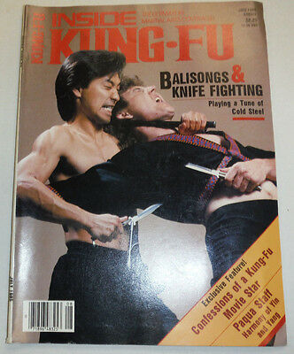 Inside Kung-Fu Magazine Balisongs & Knifes July 1985 112114R