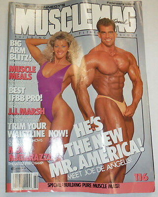 Musclemag Magazine Joe De Angelis February 1992 112114R1
