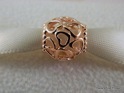 NEW!! AUTHENTIC PANDORA CHARM ROSE GOLD OPEN YOUR HEART #780964  BOX INCLUDED