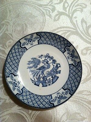 ANTIQUE Wood & Sons Blue and White Yuan Pattern  Saucer only