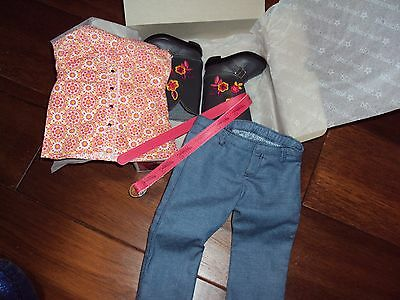 Retired American Girl of the Year Doll Saige's Saiges Parade Western Outfit Boot