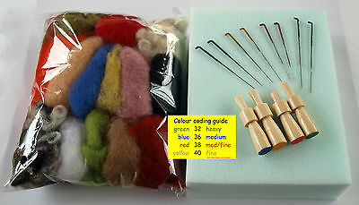 Needle Felt Felting Starter / Refill KIT PACK  C  - Personalised Tools