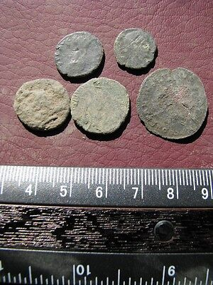 5 Ancient Roman coins + 4 oz. Mint State Restoration Coin Cleaner M178