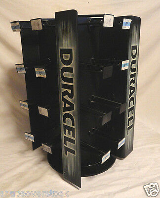 DURACELL BATTERY, 32 PEG CAROUSEL / SPINNER, COUNTERTOP RETAIL STORE DISPLAY