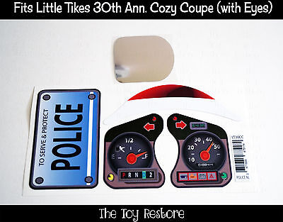New Replacement Decals Stickers fits Little Tikes Tykes Cozy Coupe 30th Police 2