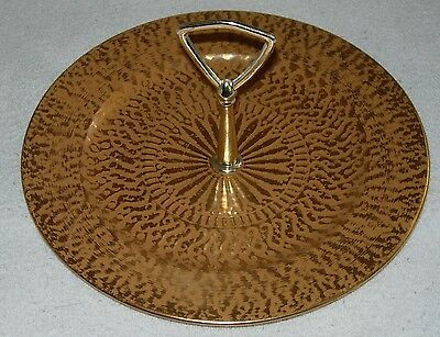 "Vintage Stangl 10""  GRANADA GOLD Serving Plate with Handle"
