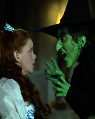 Wizard Of Oz Wicked Witch And Dorothy 1939 Movie Tv 8X10 Glossy Color Photo
