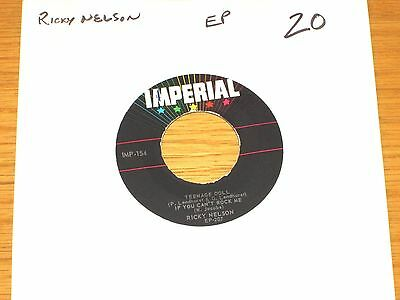 """ROCK & ROLL EP (No Cover) - RICKY NELSON - IMPERIAL 154 - """"TEENAGE DOLL"""""""