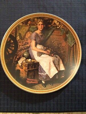 Norman Rockwell, Dreaming In The Attic Collector Plate