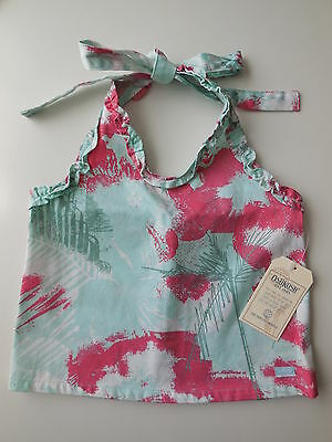 OSHKOSH Baby Toddler Girl Cotton Halter Neck Summer Top Size 3 NEW *Gift Idea*