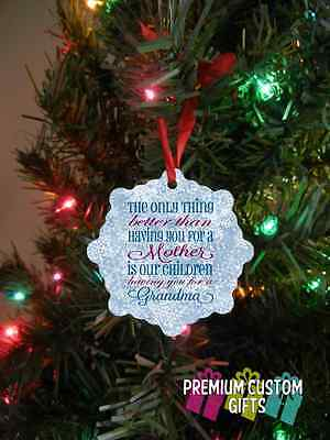 Grandmother Christmas Ornament - Personalized Christmas Ornament For Mothers