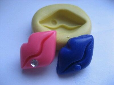 Lips with diamond 20mm Flexible silicone mold for chocolate fondant clay & more