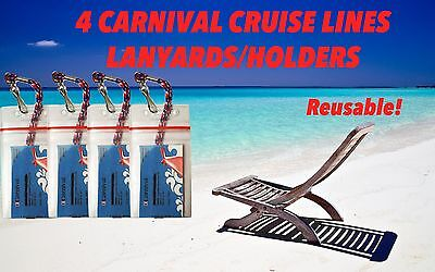 for Carnival Cruise 4 Zip Lock Lanyards Holders  Sealable