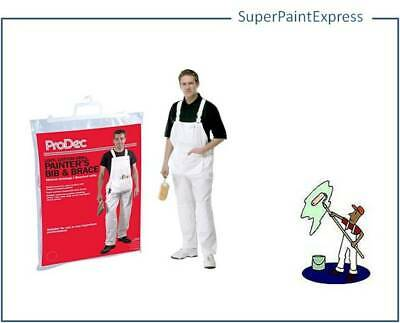 Prodec Bib And Brace Overalls  Decorators Painters- All Sizes- 100% Cotton Drill