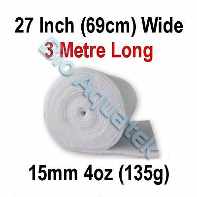 3 Metre / 3m Dacron Aquarium Pond Filter Media Floss Wool Wadding - 15mm / 4oz