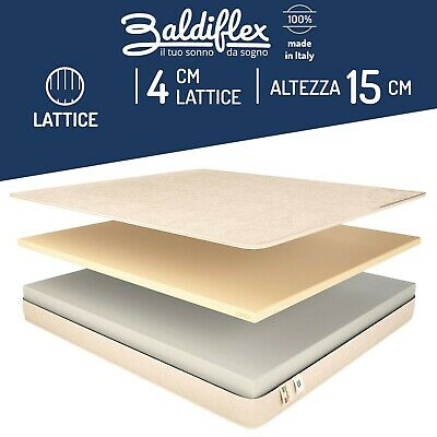 Materasso Una Piazza E Mezza Lattice.Materasso Singolo Lattice Ortopedico Antiacaro Easy Water Latex