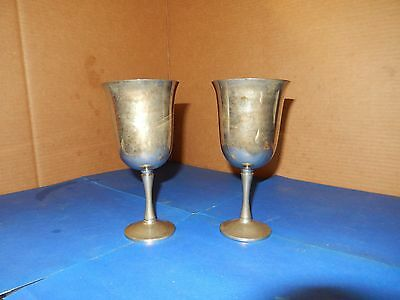 2 Silver Plated Goblets - Portugal
