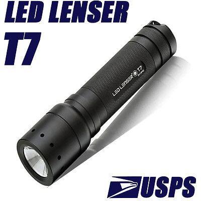 CREE COAST LED LENSER Police Tactical Focus T7 Hand Torch flashlight 200LM