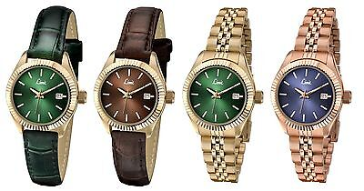 Limit Classic Gold Plated Case Ladies Watch - Date- Strap or Bracelet