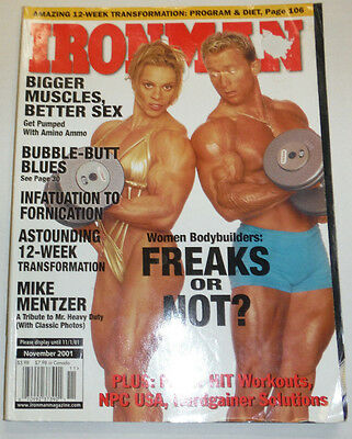 Ironman Magazine Women Bodybuilders Bigger Muscles November 2001 112114R1