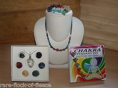 Seven Chakras Pendant Kit Bracelet And Necklace New Age Gothic Mystic Healing
