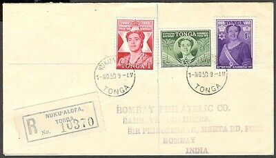 Tonga 1950 Queen Salote'S 50Th Birthday Fdc (Id:183/d29607)