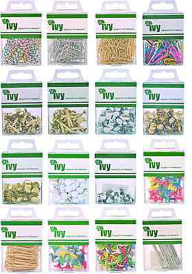 Ivy Paperclips Paper Fastener Drawing Pins Map Push Pins Brass Nickel Cork Board