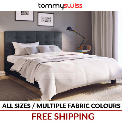 TOMMY SWISS: DELUXE King, Queen & Double Size Premium Fabric Bed Frame - BF102